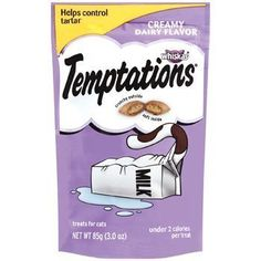 Temptations Whiskas Cat Treats, Creamy Dairy Flavor, oz Crunchy Outside, Soft Inside Milk For Cats, Birthday Cake For Cat, Birthday Cakes, Nursing Supplies, Pet Supplies, Cat Training Pads, Cat Shedding, Cat Treats, Cat Health