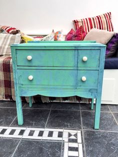 Making a distressed chest of drawers and how to fix sticky drawers.