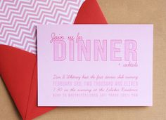 dinner party invites Dinner Party Invitations, Invitation Ideas, Invites, Etiquette Dinner, Love Design, Design Ideas, Dinner Club, Calling Cards, Fancy Party