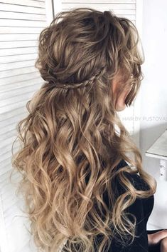 Half Up Half Down Braided Hair With Stunning Waves #longhair #braidedhairstyle ❤️ Very often half up half down wedding hairstyles are left out when it comes to the search for perfect hairdo for this special occasion. When you learn how beautiful and versatile these hairdos can be, you will change your mind once and for all. ❤️ See more: http://lovehairstyles.com/half-up-half-down-wedding-hairstyles/ #lovehairstyles #hair #hairstyles #halfuphalfdown #weddinghair #bridalhair #weddinghair
