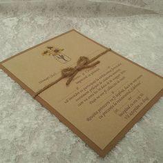 Rustic wedding invitation  #solodecor #solodecormd #handmade #weddinghandmade #creative #creativity #mywork #hobby #weddingstyle #weddingdecor #weddinginvitation #invitation #invitatie #rustic #rusticwedding #wedding #weddingaccessoriesideas #weddingart #work
