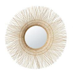 Contemporary style meets organic with this SALVADOR round coir mirror. Natural colours and braided fibres go together for a harmonious look that reinvents the countryside feel. In an interior with a mixture of light-coloured wood, brown and beige Sideboard Furniture, Dining Room Furniture, Salvador, Deco Jungle, Dining Room Bench Seating, Sun Lounger Cushions, Decorative Storage Boxes, Unique Mirrors, Lantern Candle Holders