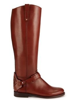The Flat Riding Boot; Looks great with slim pants, skinny jeans and leggings (tuck them in) #torybootcamp