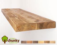 Rustikale schwebende Regale  Tiefe feste Holz Wandregal