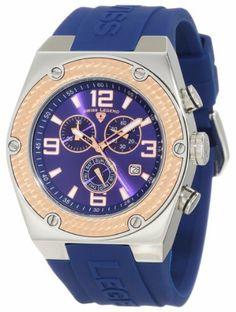 Swiss Legend Men's 30025-03-RB Throttle Chronograph Blue Dial Watch Swiss Legend. $79.99. Save 90%!