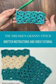Crochet Stitches For Beginners, Crochet Stitches Patterns, Crochet Videos, Crochet Basics, Crochet Designs, Different Crochet Stitches, Crochet Stitches For Blankets, Crochet 101, Beginner Crochet Blankets