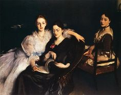 John Singer Sargent - The Misses Vickers 1884. Again love the posing, the lighting. He makes arms look so graceful.