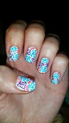 nailpolishrox04: rose nail art Rose Nail Art, Rose Nails, Fashion Ideas, Polish, Beauty, Varnishes, Manicure, Cosmetology, Nail