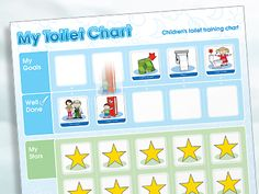 My Toilet Chart Children's Toileting Chart 5 Balloons, Reward Stickers, Toilet Training, Special Needs Kids, Kids Playing, Magnets, Encouragement, Workshop, Coding