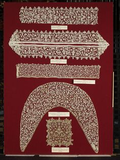Sleeve border, Italian Venetian needle lace 1670-1680