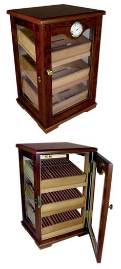 Humidor's: A centerpiece to any man cave. Holds alot of cigars too! I need this in my life! Good Cigars, Cigars And Whiskey, Cuban Cigars, Cigar Humidor, Cigar Bar, Man Cave Office, Ultimate Man Cave, Cigar Smoking, Smoking Pipes