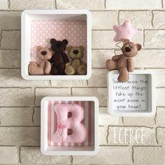 Baby Room Design, Baby Room Decor, Felt Crafts, Diy And Crafts, Name Bunting, Bear Felt, Felt Animal Patterns, Baby Frame, Flamingo Art