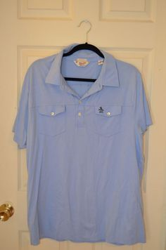 Clothing, Shoes & Accessories Energetic Vineyard Vines Polo Solid Baby Blue 100% Cotton Ss Classic Fit Shirt Size Polos Large