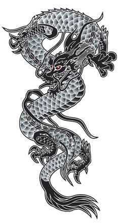 Dragon canvas picture - stretcher picture - various sizes - Leinwandbilder & Poster - Asian Tattoos, Leg Tattoos, Body Art Tattoos, Small Tattoos, Sleeve Tattoos, Tattoos For Guys, Japanese Dragon Tattoos, Japanese Tattoo Art, Tatuagem Trash Polka