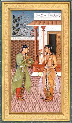 Various paintings of Mughal Kings. Mughal Miniature Paintings, Mughal Paintings, Indian Paintings, Love Painting, Silk Painting, Rain Art, Indian Folk Art, Indian Crafts, India Art