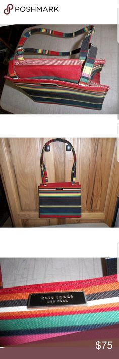 Kate Spade New York colorful handbag Spruce up your fall outfit with some colorful Kate.  Barely used handbag kate spade Bags Clutches & Wristlets