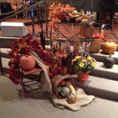 Autumn display my mother put together on our alter at church.
