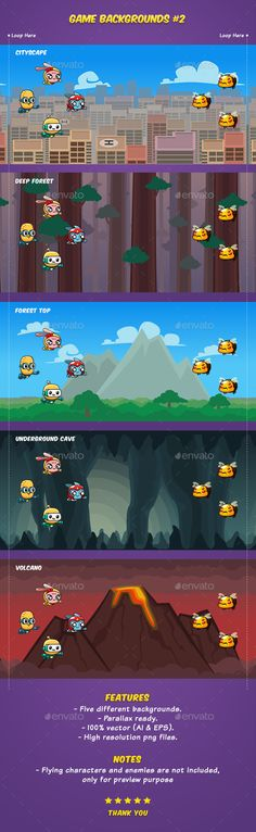 Buy Game Backgrounds by hamdirizal on GraphicRiver. Five game backgrounds suitable for for scrolling shooter, endless runner, bullet hell/ shmup games. Game Design, Layout Design, Pixel Art Games, Game Background, Deep Forest, Game Icon, Games To Buy, Game Assets, Free Games