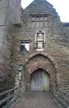 Ludlow Castle: gate to the inner bailey near to Ludlow, Shropshire, Great Britain