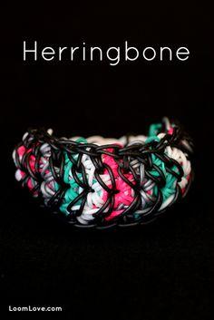 How to Make a Herringbone Rainbow Loom Bracelet