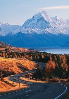Mt Cook New Zealand. An article about road trips by motorbike around the world. Great road trips photography.