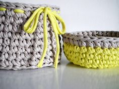Crochet Basket and Bowl  Organizers Baskets Crochet by LoopingHome, €18.50