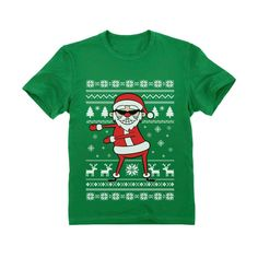 Gift Wrapped Present Youth/'s T-Shirt Funny Ugly Christmas Tee