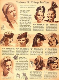 Turbans Do Things for You, 1940