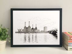Battersea Power Station giclee print by thisismikehall on Etsy