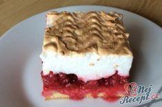 Rybízový koláč se sněhovou čepičkou | NejRecept.cz Charcuterie Board, Tiramisu, Potato Salad, Muffins, Cheesecake, Food And Drink, Cooking Recipes, Snacks, Baking