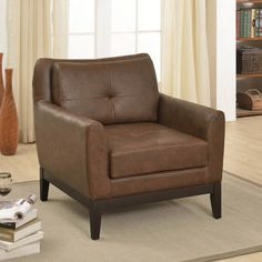 !nspire Accent Chair With Wood Detail