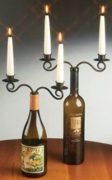 set of 2 Double WINE bottle candelabra CANDLEABRA candle holder decor NEW - $15.68