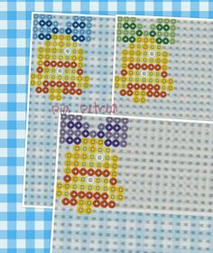 Christmas bell perler pattern by Pia Petrea