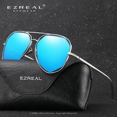 EZREAL women Brand Designer Top Mirror polarized Sunglasses Women Vintage Marque So Real Sunglasses Men Gafas de sol 2605