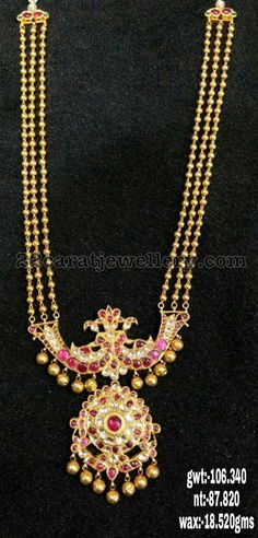 Three Layer Simple Gold Balls Set 106 Gms