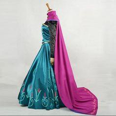 Fantasia Princesa Anna Deluxe para Adulto (Vestido, Blusa e Capa) Tamanhos de S a 2XL (P a 2XG)
