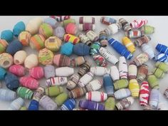 ▶ How to Make Paper Beads and Color Them Craft Tutorial - YouTube