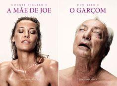 """""""Ninfomaníaca"""": posters de Connie Nielsen e Udo Kier."""