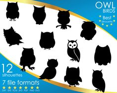 Hey, I found this really awesome Etsy listing at https://www.etsy.com/listing/501179136/12-silhouettes-owl-owls-bird-birds-dxf