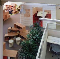 Office & Workspace: Modern Cozy Unique Google Ofice Design Ideas: Inspiring Modern Offices Design in Silicon Valley