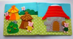 Quiet book felt book Goldilocks and the Three Bears quiet