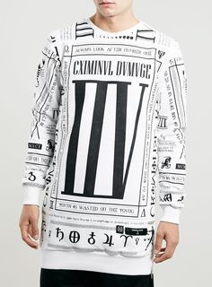 Criminal Damage Trill Sweatshirt* - Criminal Damage - Brands - TOPMAN