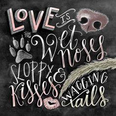 Dog Decor Dog Lover Gift Dog Quote Dog Art by TheWhiteLime on Etsy