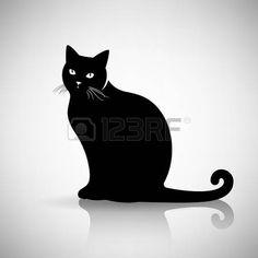 Chat tatouage silhouette d 39 une ic ne de chat tatouages chats pinterest tatouage chat - Tatouage silhouette chat ...