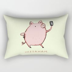 Check out society6curated.com for more! @society6 #illustration #home #decor #homedecor #interior #design #interiordesign #buy #shop #shopping #sale #apartment #apartmentgoals #sophomore #year #house #fun #cool #unique #gift #giftidea #idea #pillows  #funny #pig #lol