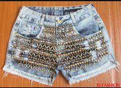 Short Jeans, Jean Shorts, Women, Fashion, Denim Shorts, Moda, Fashion Styles, Fashion Illustrations, Woman