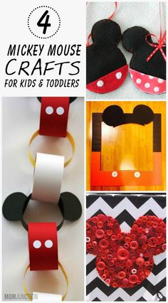 4 Creative Mickey Mouse Crafts For Kids & Toddlers