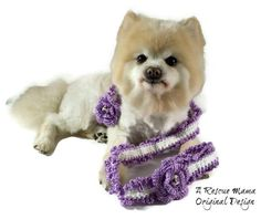 Lavender Crochet Dog Leash  Dog Leash  Purple and by TheRescueMama