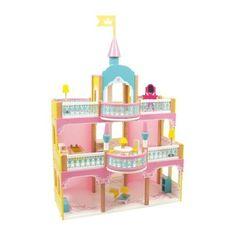 """Het prinsessenkasteel zoals in """"1001 nacht"""" laat kleine meisjes het rijk van Aladin en de wonderlamp binnengaan. In pastelkleuren rijk versierd met ornamenten kan met het kasteel ook staande worden gespeeld.Het gevarieerde 20-delige toebehoren kan naar believen op alle drie etages worden gebruikt."""