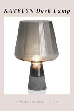 It is a new pretty desk lighting piece with a strong concrete base and an impressive glass lamp portion. Electrical lighting fixtures have been approved according to EU standards and bear the FI and GS safety markings. Cool Lighting, Table Lighting, Desk Lamp, Table Lamp, Cute Desk, Kitchen Lamps, Glass Ceramic, Light Table, Lamp Design